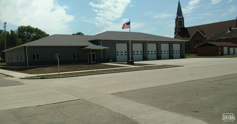 The city of Granville used a Derelict Building Grant to remove an unused school building and construct a new fire station for the community | Iowa DNR